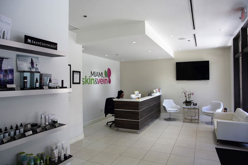 Front Desk Area at Miami Skin & Vein in Coral Gables
