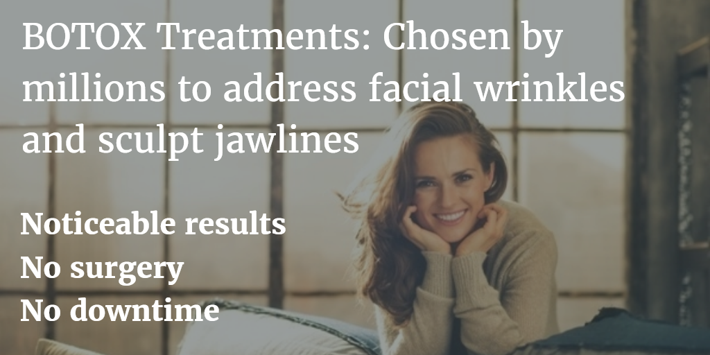 Young woman holding face on couch | Foreground: Advantages of Botox Cosmetic