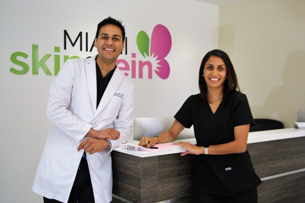 Dr. Shaun Patel and Angeli Patel, RN at Miami Skin and Vein in Coral Gables, FL