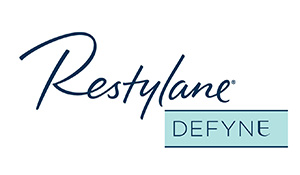 Restylane Defyne logo | Injectable treatment for marionette lines