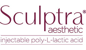 Sculptra logo | Injectable stimulating collagen production