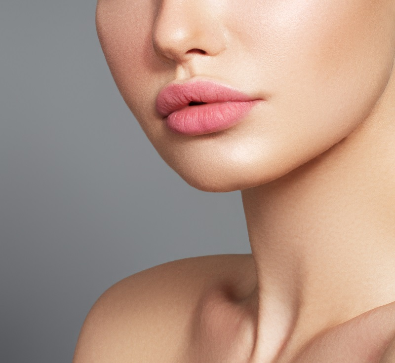 Woman after treatment for thin lips at Miami Skin and Vein
